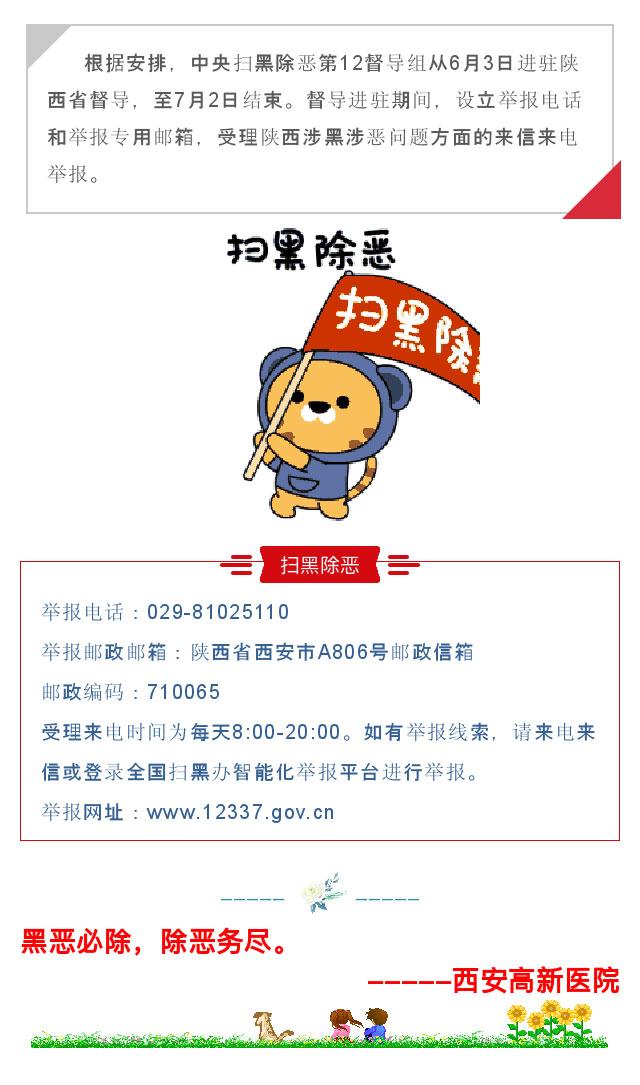 中央扫黑除恶第12督导组进驻陕西-举报方式公布